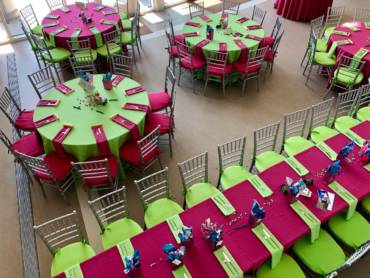 Bright, Fun Bat Mitzvah Decor
